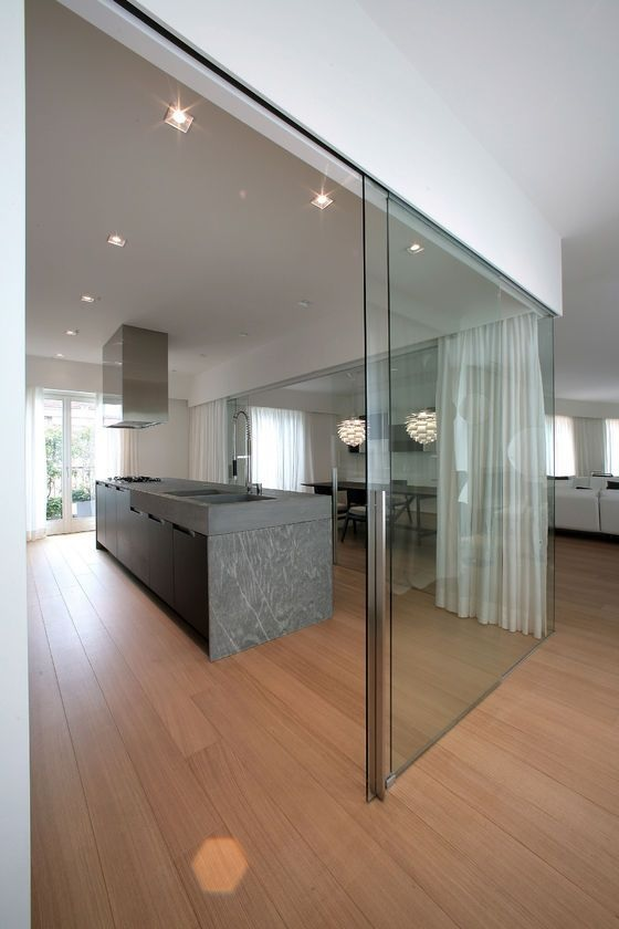 Glass Partition Ideas for Kitchen 06