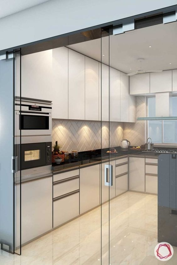 Glass Partition Ideas for Kitchen 08