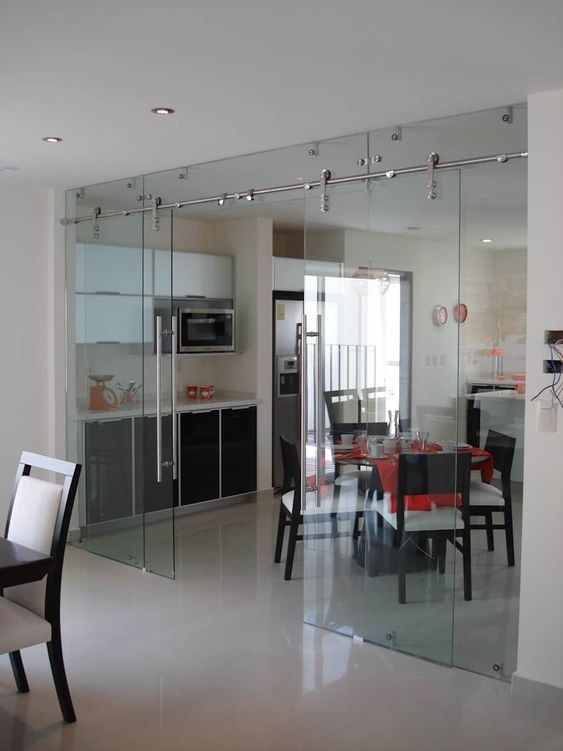 Glass Partition Ideas for Kitchen 09