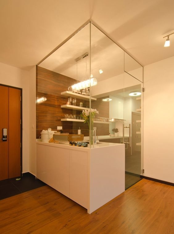 Glass Partition Ideas for Kitchen 10