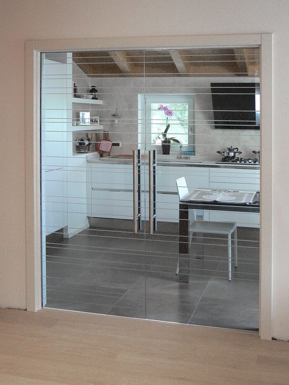 Glass Partition Ideas for Kitchen 15