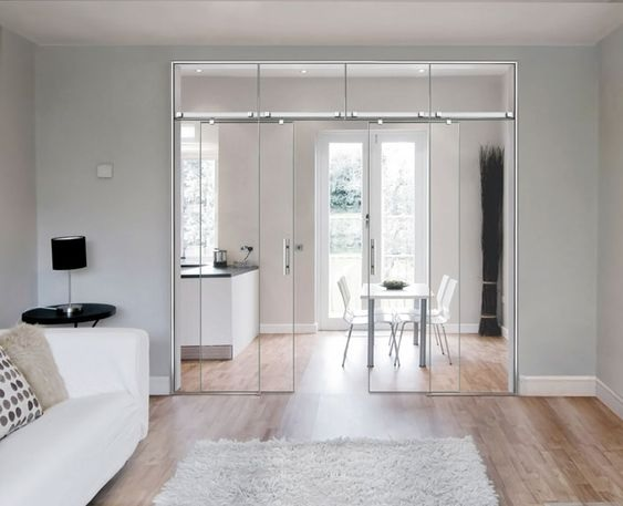 Glass Partition Ideas for Kitchen 17