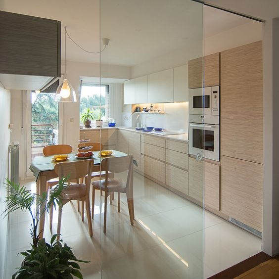 Glass Partition Ideas for Kitchen 18