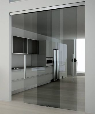 Glass Partition Ideas for Kitchen 22