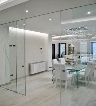 Glass Partition Ideas for Kitchen 23