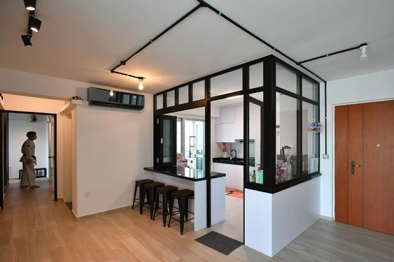 Glass Partition Ideas for Kitchen 25