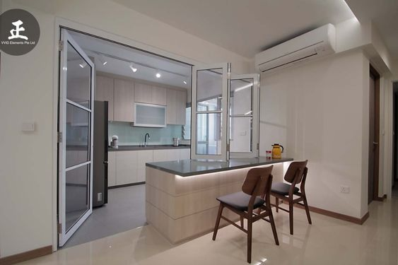 Glass Partition Ideas for Kitchen 27