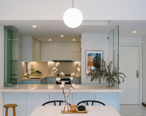 Glass Partition Ideas for Kitchen 28