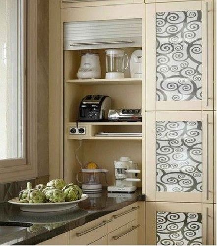 Texture Glass for Kitchen Cabinet 24