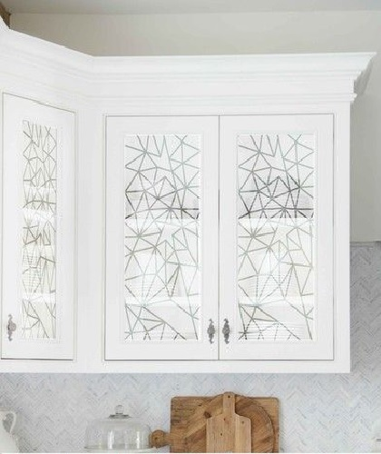 Texture Glass for Kitchen Cabinet 29